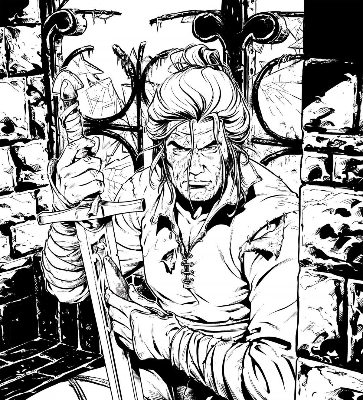 Dragonero - Ian Aranill - bianco e nero - (c) Sergio Bonelli Editore