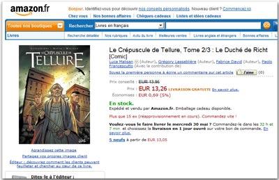Tellure tomo2 su amazon.fr