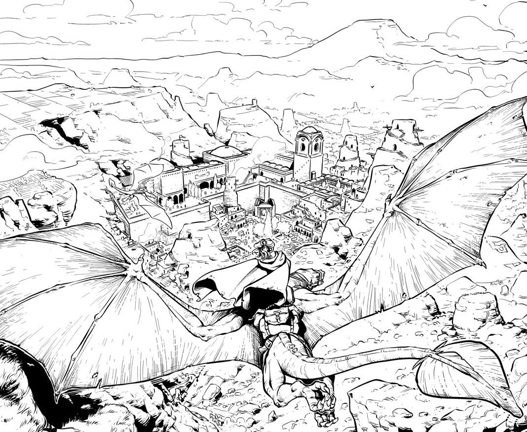 Dragonero - vignetta di prova