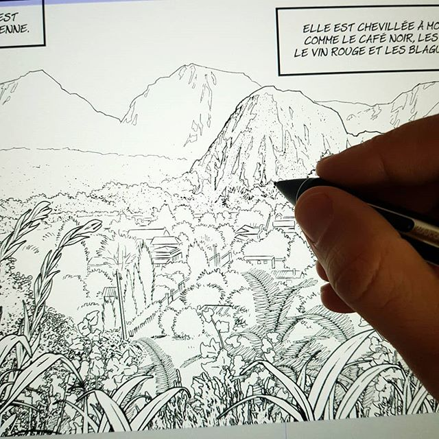 #bd #bandedessinee #comics #fumetti #reunion #landscape #ink #digitalink #digitalart #art #artwork #illustration #wacom #cintiqpro #comicart #comicbook #malisan